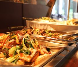 buffet lunch-hot selections-including vegetarian